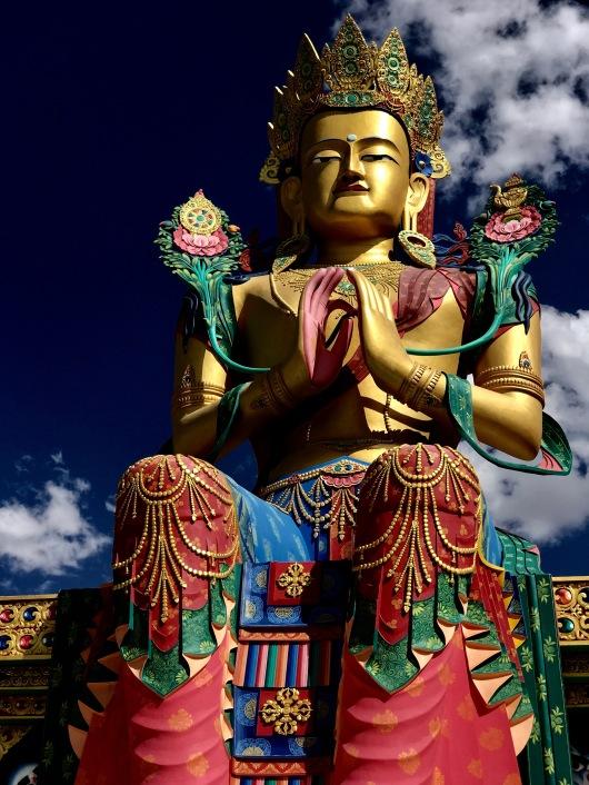 32 metre statue of Maitreya Buddha near Diskit Monastery