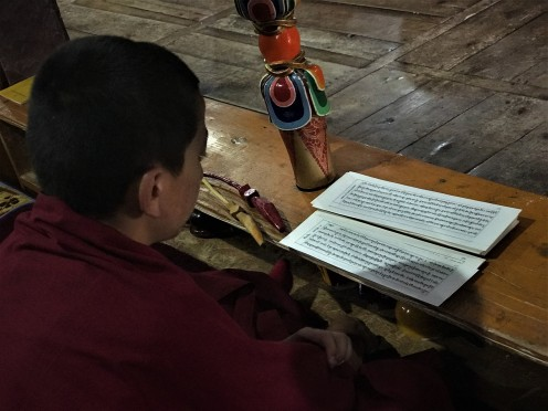 A Chanting Monk